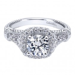 Gabriel 14 Karat Contemporary Engagement Ring ER10237W44JJ
