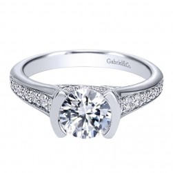 Gabriel 14 Karat Contemporary Engagement Ring ER10246W44JJ