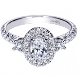 Gabriel 14 Karat Contemporary Engagement Ring ER9005W44JJ