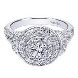 Gabriel 14 Karat Contemporary Engagement Ring ER910149W44JJ