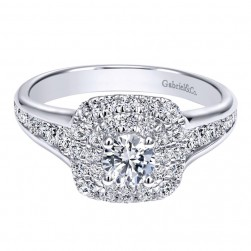 Gabriel 14 Karat Contemporary Engagement Ring ER911772R0W44JJ