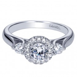 Gabriel 14 Karat Contemporary Engagement Ring ER98658W44JJ