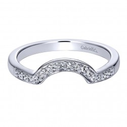 Gabriel 14 Karat Contemporary Wedding Band WB4040W44JJ