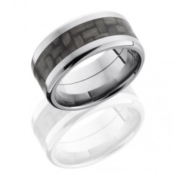 Lashbrook C10B15-CF(NS) Polish Titanium Carbon Fiber Wedding Ring or Band