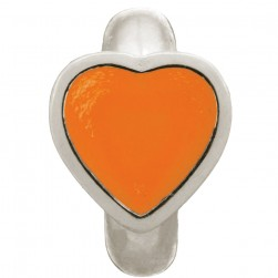 Endless Jewelry Coral Enamel Heart Sterling Silver Charm 41200-4