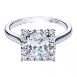 Gabriel 14 Karat Contemporary Engagement Ring ER7499W44JJ