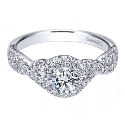 Gabriel 14 Karat Contemporary Engagement Ring ER910100W44JJ