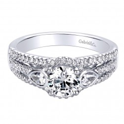 Gabriel 14 Karat Contemporary Engagement Ring ER9299W44JJ
