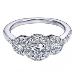 Gabriel 14 Karat Contemporary Engagement Ring ER95992W44JJ