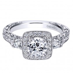Gabriel 14 Karat Contemporary Engagement Ring ER98403W44JJ