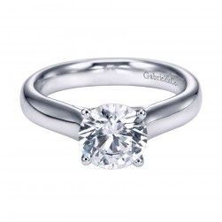 Gabriel Platinum Contemporary Engagement Ring ER6603PTJJJ