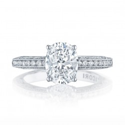 HT2553OV9X7 Platinum Tacori Classic Crescent Engagement Ring