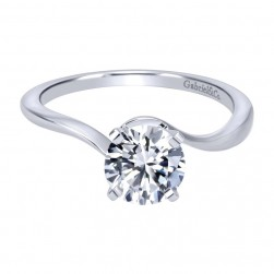Gabriel 14 Karat Contemporary Engagement Ring ER11588R3W4JJJ