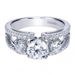 Gabriel 14 Karat Contemporary Engagement Ring ER4251W44JJ