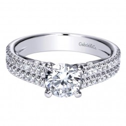 Gabriel 14 Karat Contemporary Engagement Ring ER98560W44JJ