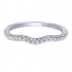 Gabriel 14 Karat Contemporary Wedding Band WB10477W44JJ