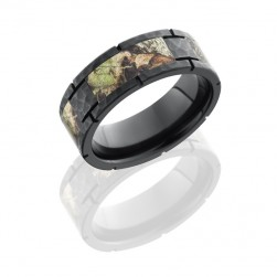 Lashbrook ZCAMO8F4SEG-MOSSYOAK HAMMER Camo Wedding Ring or Band