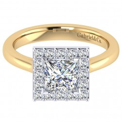 Gabriel 14 Karat Contemporary Engagement Ring ER7490M44JJ