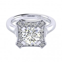 Gabriel 14 Karat Perfect Match Engagement Ring ER009C8AEW44JJ
