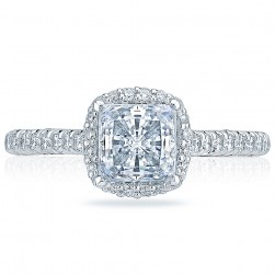 HT2547PR6 Platinum Tacori Classic Crescent Engagement Ring