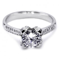Tacori Platinum Simply Tacori Solitaire Engagement Ring 2536RD65