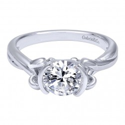 Gabriel 14 Karat Contemporary Engagement Ring ER10760W4JJJ