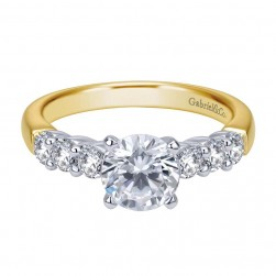 Gabriel 14 Karat Contemporary Engagement Ring ER7849M44JJ