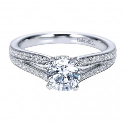 Gabriel 14 Karat Contemporary Engagement Ring ER8001W44JJ