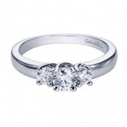 Gabriel 14 Karat Contemporary Engagement Ring ER92718W44JJ