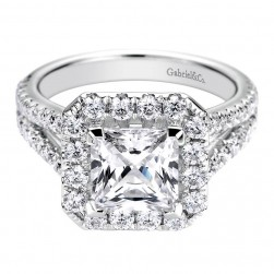 Gabriel 14 Karat Contemporary Engagement Ring ER9783W44JJ