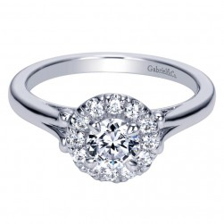 Gabriel 14 Karat Contemporary Engagement Ring ER98657W44JJ