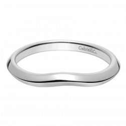 Gabriel 14 Karat Contemporary Wedding Band WB8425W4JJJ