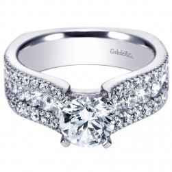 Gabriel 14 Karat Contemporary Engagement Ring ER4254W44JJ