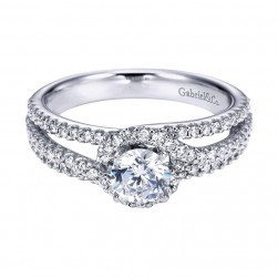 Gabriel 14 Karat Contemporary Engagement Ring ER6949W44JJ