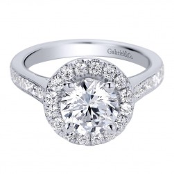 Gabriel 14 Karat Contemporary Engagement Ring ER9397W44JJ