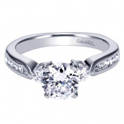 Gabriel 14 Karat Contemporary Engagement Ring ER93993W44JJ