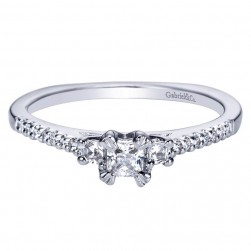 Gabriel 14 Karat Contemporary Engagement Ring ER94261W44JJ
