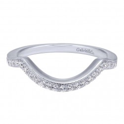 Gabriel 14 Karat Contemporary Wedding Band WB10427W44JJ