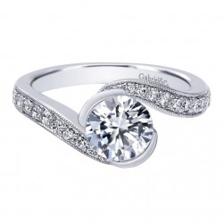 Gabriel 14 Karat Contemporary Engagement Ring ER10473W44JJ