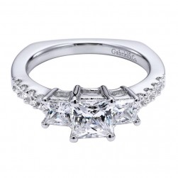 Gabriel 14 Karat Contemporary Engagement Ring ER6021W44JJ