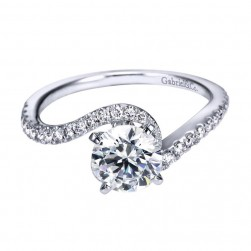 Gabriel 14 Karat Contemporary Engagement Ring ER7232W44JJ
