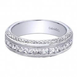Gabriel 14 Karat Contemporary Wedding Band WB9499W44JJ