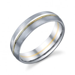 272889 Christian Bauer 18 Karat Two-Tone Wedding Ring / Band