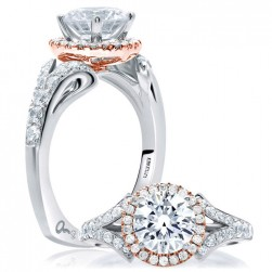 A.JAFFE 14 Karat Signature Engagement Ring MES636