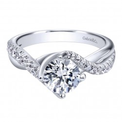 Gabriel 14 Karat Contemporary Engagement Ring ER10258W44JJ