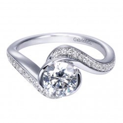 Gabriel 14 Karat Contemporary Engagement Ring ER7831W44JJ