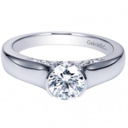 Gabriel 14 Karat Contemporary Engagement Ring ER9057W44JJ