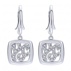 Gabriel Fashion Silver Contemporary Drop Earrings EG11662SVJWS