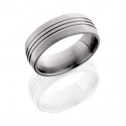 Lashbrook 8D3.5 CROSS BRUSH Titanium Wedding Ring or Band