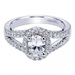 Gabriel 14 Karat Contemporary Engagement Ring ER5866W44JJ